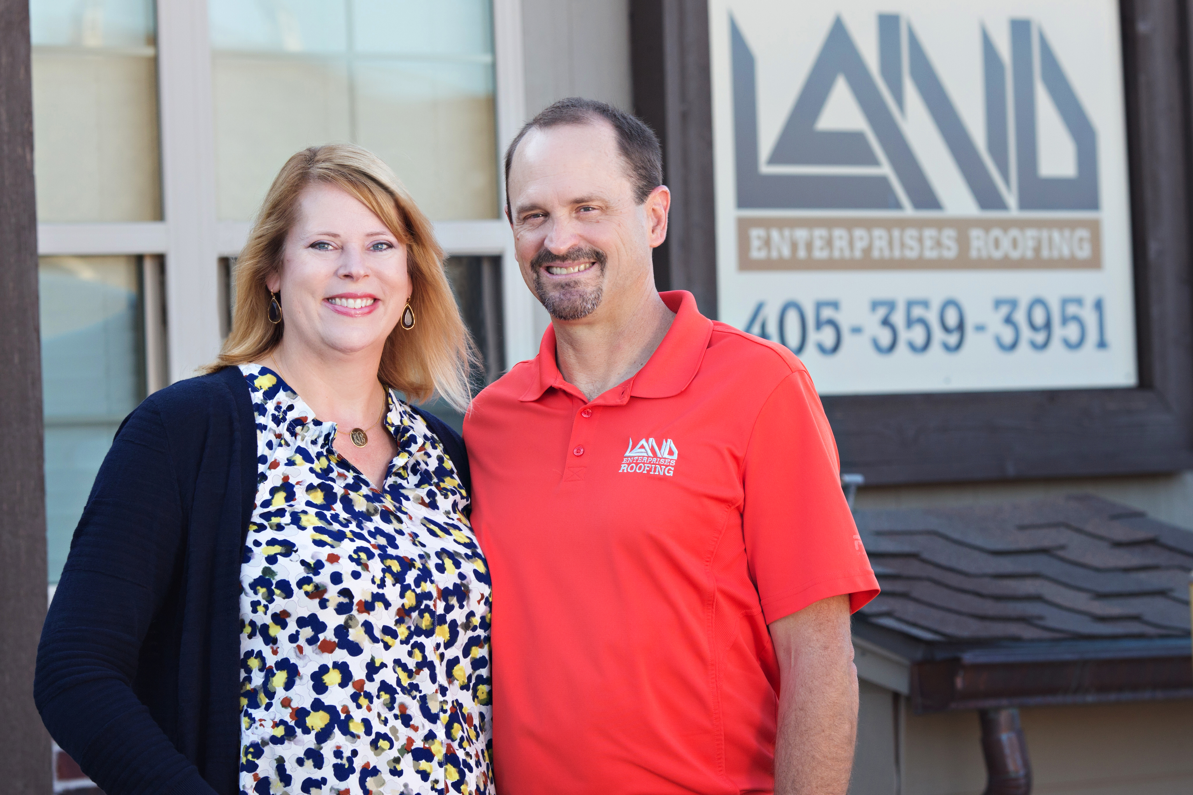 Brian and Kirsten Land, Land Enterprises Roofing